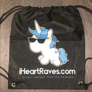 iHeartRaves Unicorn Drawstring Bag NEW